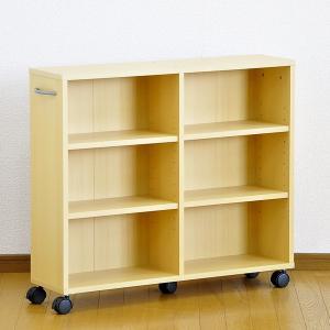 カラーボックス 3段 安い 収納 スリム キャスター付き|mdmoko