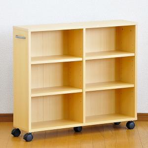 カラーボックス 3段 安い キャスター付き 収納 スリム|mdmoko