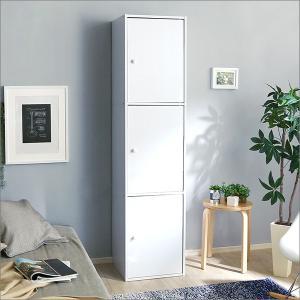 カラーボックス 扉付き 3段 扉 安い 収納 スリム|mdmoko