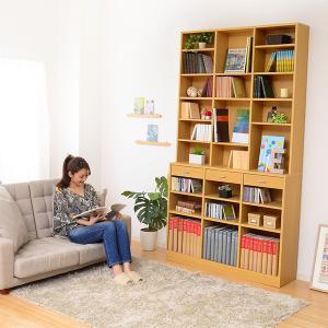 オープンラック 木製 ディスプレイラック 本棚 ホワイト|mdmoko