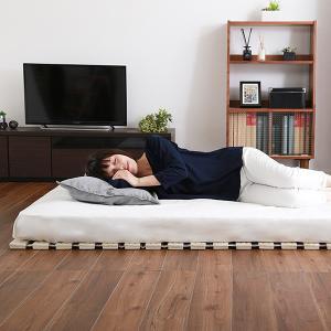 すのこベッド ダブル フレーム ロール すのこ ベッド 桐|mdmoko