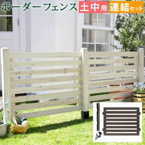 ガーデニング フェンス 木製 ボーダーフェンス おしゃれ ガ|mdmoko