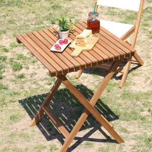 カフェテーブル 高さ 60 ガーデンテーブル 2人 四角 正|mdmoko