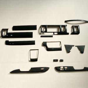 【訳アリ商品】 ハイエース 200系 インテリアパネル 14P 黒木目 4型 前期 後期 (5型) ナロー S-GL 内装パーツ|mdnmadonna