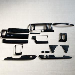 【訳アリ商品】 ハイエース 200系 インテリアパネル 15P 黒木目 4型 前期 後期 (5型) ナローボディ S-GL 内装パーツ|mdnmadonna