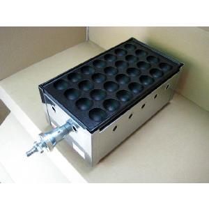 スタンダードな業務用たこ焼き器の1丁掛。プロパンガス(LPG)用です。 28穴の標準的な鉄板 1枚 ...