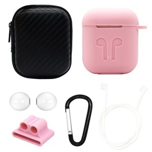 6 in 1 Apple AirPods用 シリコンケースセット Pink + White(ピンク ...
