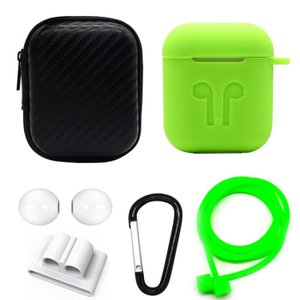 6 in 1 Apple AirPods用 シリコンケースセット Green(グリーン)AirPod...