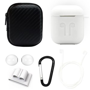 6 in 1 Apple AirPods用 シリコンケースセット White(ホワイト)AirPod...