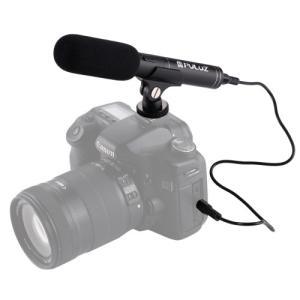 PULUZ プルーズ ビデオカメラ用 プロフェッショナル インタビューコンデンサー ビデオショットガ...