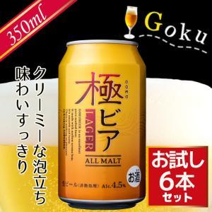ビール 極ビア ALLMALT 生ビール 350mlx6本 お試しセット 送料無料 me-kiki