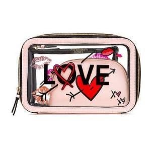 VICTORIA'S SECRET PINK ヴィクトリアシークレット メイクポーチ 化粧ポーチ L...