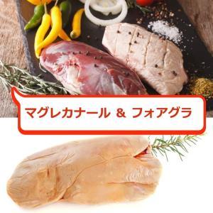 送料無料セット  マグレカナール 2枚(約700g)+フォアグラ ブロック 約600g ハンガリー産|meat-gen
