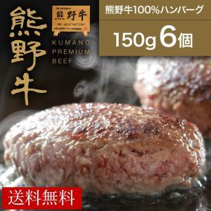 【熊野牛】熊野牛100%ハンバーグ150g(6個)   お肉 高級 ギフト プレゼント 贈答 自宅用...