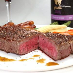 大麦牛(輸入牛肉 オーストラリア産)1ポンドステーキ サーロインステーキ 1枚 約440g〜460g meatpiasanuki 03