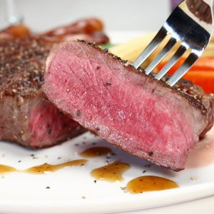 大麦牛(輸入牛肉 オーストラリア産)1ポンドステーキ サーロインステーキ 1枚 約440g〜460g meatpiasanuki 04