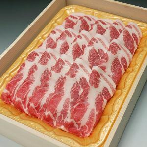 国産豚肉 肩ローススライス しゃぶしゃぶ 鍋物用などに800g 木箱入り☆お祝い ギフト 贈り物においしい香川県産の豚肉「讃玄豚」|meatpiasanuki