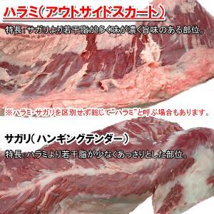 牛ハラミ はらみ 焼肉 焼き肉 BBQ バーベキュー用 200g(アメリカ産)|meatpiasanuki|03