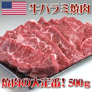 牛ハラミ焼肉500g BBQ バーベキュー (アメリカ産チルド品)|meatpiasanuki