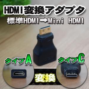 標準 HDMI (タイプA)を Mini HDMI (タイプC)に変換する アダプター