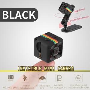 【ブラック】SQ11 超小型 カメラ ビデオカメラ 赤外線暗視 暗視機能 指先サイズ フルHDマイク...
