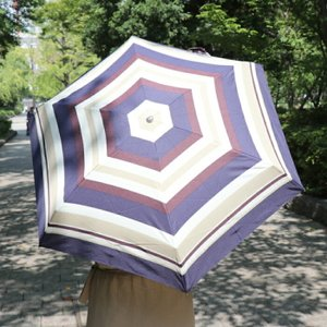because 折りたたみ傘 multi border mini 折り畳み傘 収納袋 トートバッグ 傘 雨具 アンブレラ 軽量 スリム レイン 雨傘 折りたたみ おしゃれ アウトドア 梅雨|mecu