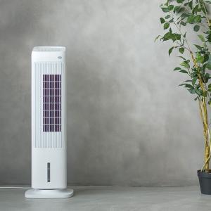 加湿機能付 スリムタワー温冷風扇「ヒート&クール」 扇風機 サーキュレーター 加湿器 冷風 温風 ファン スリム リモコン ヒーター 電気ストーブ 首振り|mecu|02