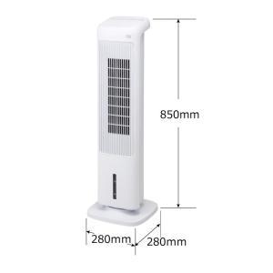 加湿機能付 スリムタワー温冷風扇「ヒート&クール」 扇風機 サーキュレーター 加湿器 冷風 温風 ファン スリム リモコン ヒーター 電気ストーブ 首振り|mecu|09