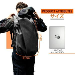 ラップトップ バックパック リュック 大容量 防水 15.6 PC USBポート付 カジュアル a4 軽量 収納 スマホ充電 バッグ 通勤 通学 登山 ビジネス アウトドア 旅行|mecu|02