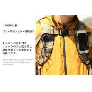 マルチリュック ホルダー付き PC収納付 リュック リュックサック バックパック 40L 鞄 ザック ポケット トレッキング 登山 旅行 アウトドア 遠足 男女兼用|mecu|06