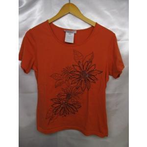 GIVENCHY ジバンシィ スパンコールTシャツ サイズL レディース オレンジ系 日本製|medamaya