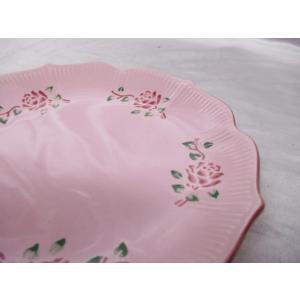 many メニー ローズ柄プレート 5枚セット ピンク バラ 薔薇 皿|medamaya