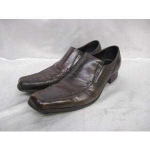 KATHARINE HAMNETT LONDON キャサリンハムネット ロンドン スリッポンシューズ 靴 25cm ブラウン|medamaya