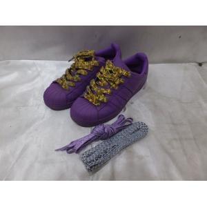 adidas アディダス ファレルウィリアム スーパースター/シューズ 23.5cm パープル|medamaya
