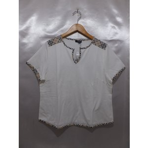 BURBERRY LONDON バーバリーロンドン 半袖Tシャツ タグ付き 未使用 サイズF  ホワイト 白 トップス レディース|medamaya