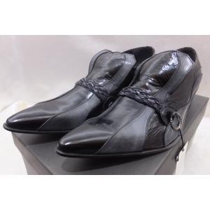 TORNADO MART トルネードマート リアルレザーデザイン ドレスシューズ 革靴 サイズ L 箱付きタグ付き未使用 ブラック|medamaya