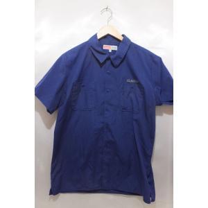 X-LARGE エクストララージ 半袖ボタンシャツ ワークシャツ サイズL ブルー系 トップス メンズ|medamaya