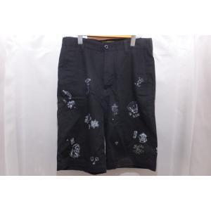 KUSTOMSTYLE カスタムスタイル ショートパンツ ワークショーツ W32 ブラック 黒 日本製 綿100%|medamaya