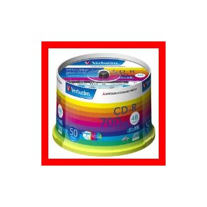 三菱化学メディア Verbatim CD-R 700MB 1回記録用 48倍速 スピンドルケース 50枚パック ワイド印刷対応 ホワイトレーベ…の商品画像