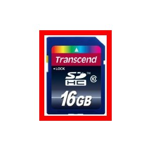 Transcend SDHCカード 16GB Class10  TS16GSDHC10