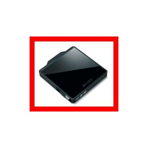 BUFFALO Boostケーブル搭載 ポータブルDVDドライブ ブラック DVSM-PC58U2V-BK