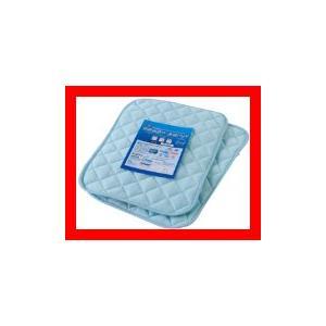 接触冷感ひんやりタッチプラス アウトラスト(NASA使用素材)快適快眠クール枕パッド(ナイスクール素材使用) 同色2枚組 ブルー 440600…