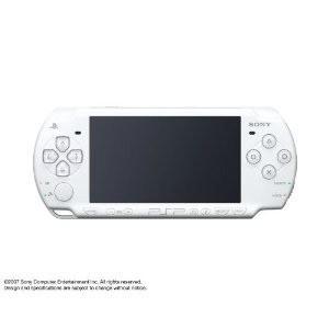 『中古即納』{本体}{PSP}プレイステーションポータブル セラミック・ホワイト(PSP-2000CW)(20070920)|media-world
