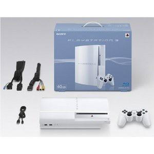 『中古即納』{本体}{PS3}プレイステーション3 PlayStation3 HDD40GB セラミック・ホワイト(CECH-H00CW)(20071111)|media-world