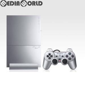 『中古即納』{本体}{PS2}プレイステーション2 PlayStation2 サテン・シルバー(SCPH-90000SS)(20071122) media-world