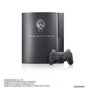 『中古即納』{本体}{PS3}FINAL FANTASY VII ADVENT CHILDREN COMPLETE PlayStation3 Cloud Black HDD 160GB特別仕様+「FINAL FANTASY XIII」 Trial Version Set|media-world