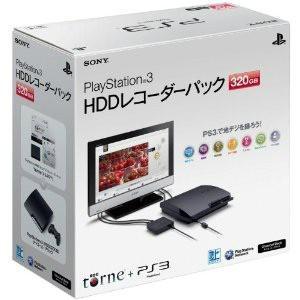 『中古即納』{本体}{PS3}プレイステーション3 PlayStation3 HDD320GB チャコール・ブラック HDDレコーダーパック(CEJH-10017)(20110630)|media-world