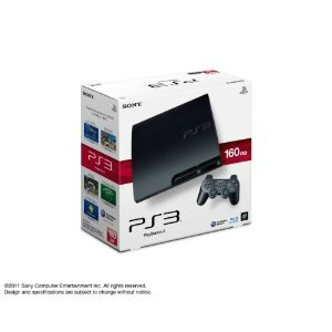 『中古即納』{本体}{PS3}プレイステーション3 PlayStation3 HDD160GB チャコール・ブラック(CECH-3000A)(20110709)|media-world