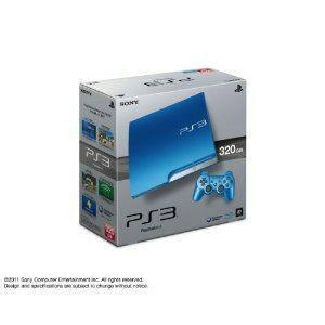 『中古即納』{本体}{PS3}プレイステーション3 PlayStation3 HDD320GB スプラッシュ・ブルー(CECH-3000BSB)(20111117)|media-world