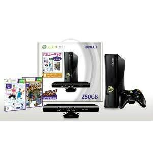 『中古即納』{本体}{Xbox360}Xbox360 250GB+Kinect(キネクト) バリューパック(キネクトアドベンチャー&ユアシェイプ同梱)(RKH-00014)(20111013)|media-world